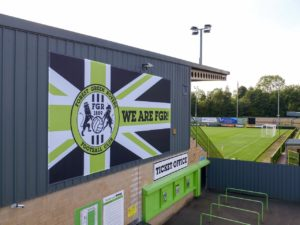 Forest Green have been congratulated by UEFA on winning a United Nations award for their efforts to go carbon neutral.