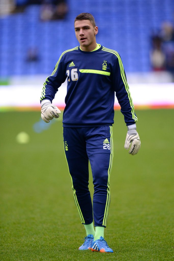 Burton goalkeeper Dimitar Evtimov has signed a new one-month contract with the club.