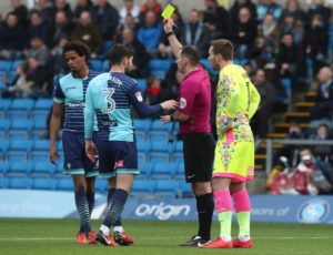 Wycombe will be without suspended defender Sido Jombati for Saturday's Sky Bet League One clash with Burton.