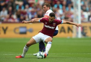 West Ham are sweating over the fitness of Robert Snodgrass after the midfielder picked up an ankle injury on international duty.