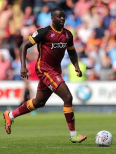 Bradford midfielder Hope Akpan is back in training but Saturday's game against Rochdale comes too soon.