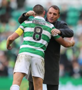 Scott Brown is not surprised to see Brendan Rodgers' name linked with the Aston Villa vacancy but is amazed there have not been more clubs interested.