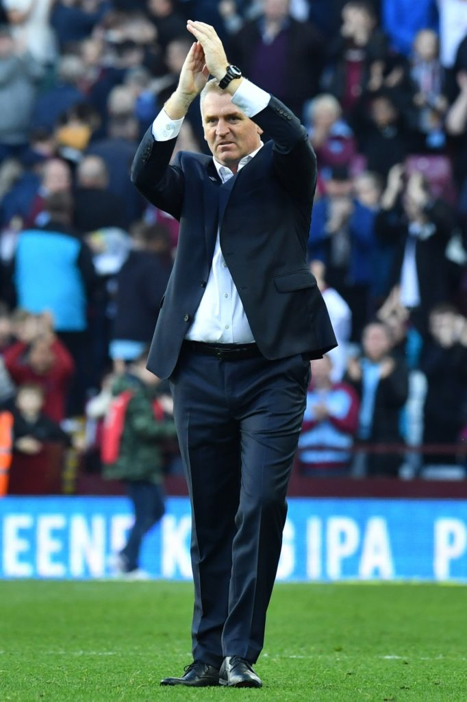 Dean Smith lauded Tammy Abraham and Orjan Nyland after he celebrated his first game in charge of Aston Villa with a 1-0 win over Swansea at Villa Park.