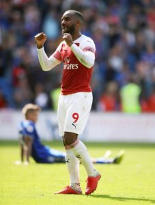 Arsenal boss Unai Emery has hailed the performances of Alexandre Lacazette but believes the striker can get even better.