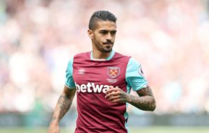 West Ham United midfielder Manuel Lanzini has posted a picture on Instagram of himself kicking a ball as he recovers from knee surgery.
