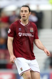 Northampton midfielder John-Joe O'Toole will be suspended against Forest Green on Saturday.