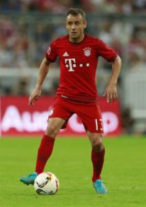 Bayern Munich defender Rafinha hopes he will be able to make a return to action soon after taking part in a training session.