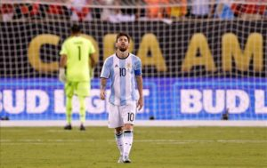 Diego Maradona feels Lionel Messi has become a scapegoat for the Argentina side and has urged him to quit international football.