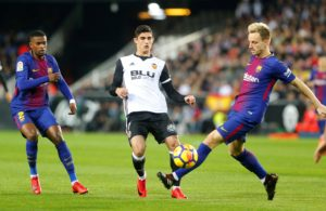 Valencia's Goncalo Guedes is set for three weeks on the sidelines after picking up an injury in his left adductor.