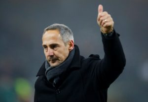 Adi Hutter says Eintracht Frankfurt cannot get carried away after beating Fortuna Dusseldorf 7-1 on Friday.