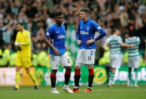 Kyle Lafferty cannot play for Rangers against Hamilton on Sunday after the Irish FA invoked FIFA's five-day rule on international pull-outs.