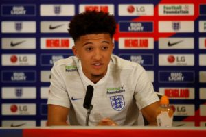 Borussia Dortmund youngster Jadon Sancho admits he was shocked to be called into the England squad.