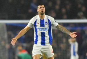 Brighton defender Shane Duffy says he has never been happier in his career after being questioned about a move to a top club.