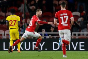 Middlesbrough are through to the EFL Cup quarter-finals after seeing off Crystal Palace 1-0 thanks to Lewis Wing's first half stunner.