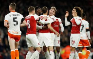 Arsenal held on to defeat Blackpool 2-1 at the Emirates Stadium and secure a place in the last eight of the Carabao Cup.