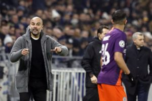 Pep Guardiola felt Lyon were a step up from domestic opponents after Manchester City scrambled to a 2-2 draw in the Champions League.