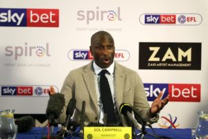 Sol Campbell is confident he is the right man to lead Macclesfield to safety after taking charge of the struggling Silkmen in his first managerial role.