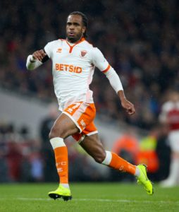 Nathan Delfouneso's fourth goal of the season earned Blackpool a 1-0 victory over Gillingham to end their three-match losing streak in all competitions.
