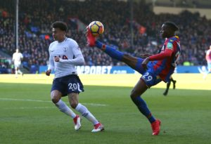 Crystal Palace are waiting to learn the full extent of the shoulder injury suffered by defender Aaron Wan-Bissaka against Tottenham.