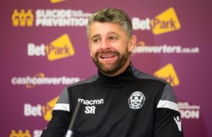 Motherwell boss Stephen Robinson was a proud manager after watching his players respond superbly to their 7-1 Ladbrokes Premiership drubbing at Ibrox.