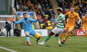 Celtic moved to the top of the Ladbrokes Premiership with a goalless draw at resolute Livingston.