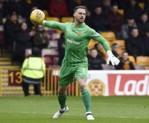 Motherwell keeper Trevor Carson is out for an indefinite period after developing deep vein thrombosis while on international duty with Northern Ireland.