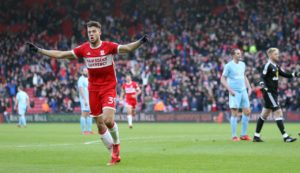 Middlesbrough's Rudy Gestede has been ruled out of the Sky Bet Championship clash with his former club Aston Villa on Saturday due to a hamstring injury.