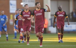 Anthony O'Connor's goal helped bottom club Bradford end a run of six straight League One defeats with a 1-1 draw at promotion contenders Peterborough.