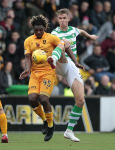 Livingston striker Dolly Menga has been offered a two-game ban after allegedly aiming a headbutt at Celtic forward Ryan Christie.