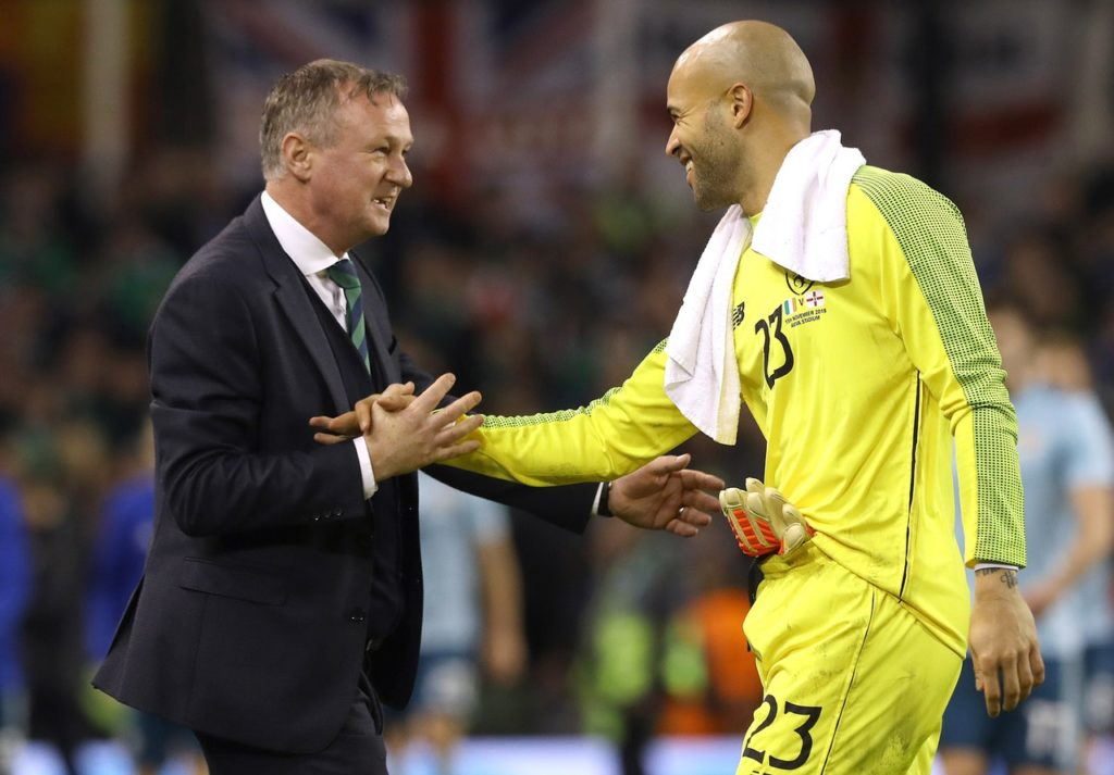 Darren Randolph enjoyed being the backstop as his heroics helped the Republic of Ireland avoid defeat against Northern Ireland.