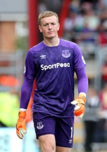 Everton goalkeeper Jordan Pickford is reported to be a target for Manchester United should David De Gea leave Old Trafford.