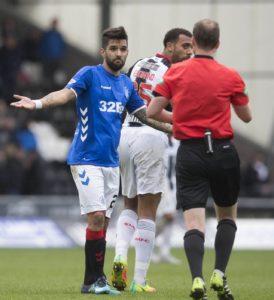 Referee Willie Collum has confirmed Rangers winger Daniel Candeias was sent off against St Mirren for making 'gestures' to Buddies defender Anton Ferdinand.