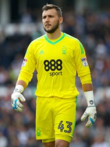 Barnsley have signed goalkeeper Jordan Smith on a one-week emergency loan from Nottingham Forest.