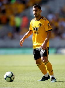 Wolves will be without wing-back Jonny Otto for up to six weeks after he sustained a knee injury on international duty.