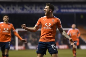 Striker James Collins netted a hat-trick as Luton hammered Plymouth 5-1 at Kenilworth Road.