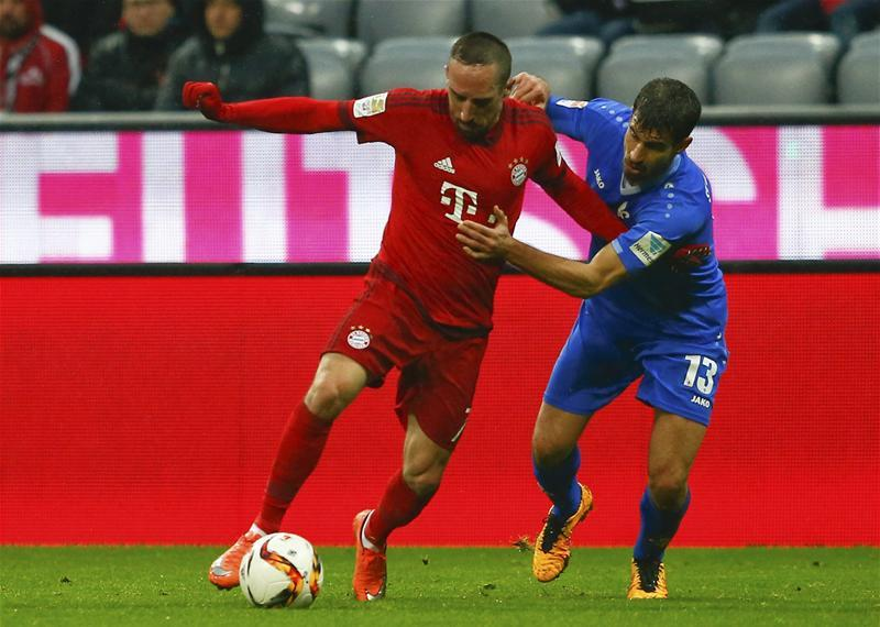 Bayern Munich are investigating an incident in which Franck Ribery became embroiled in an altercation with a reporter on Saturday.