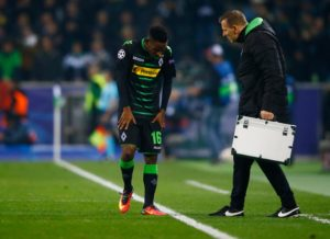 Ibrahima Traore has given Borussia Monchengladbach a fitness boost by returning to full training following a thigh injury.