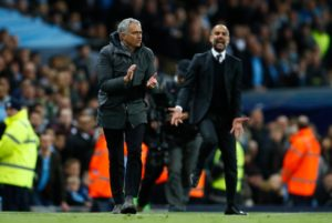 Manchester United will not be out of the title race even if they lose on Sunday, according to Manchester City boss Pep Guardiola.