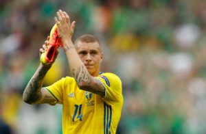 Victor Lindelof fell ill during Sweden's 1-0 Uefa Nations League win in Turkey on Saturday and is a doubt for their next match.