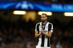 Giorgio Chiellini says Juventus have achieved their first goal after booking their spot in the last 16 of the Champions League.