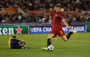 Roma striker Edin Dzeko says he finds it easier to score in Europe than in Serie A as 'opponents don't put 10 men behind the ball'.