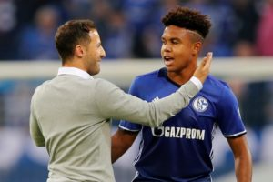 Domenico Tedesco praised his Schalke side as they closed in on the Champions League knockout stages with a 2-0 win over Galatasaray.