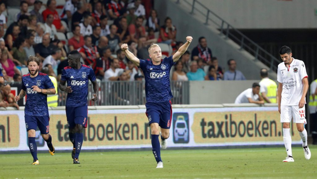 Roma are the latest big European club to be linked with a swoop for Ajax's highly-rated midfielder Donny van de Beek.