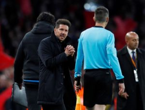 Diego Simeone praised Atletico Madrid's 'fantastic' support after his side snatched a late 3-2 win against Athletic Bilbao on Saturday.