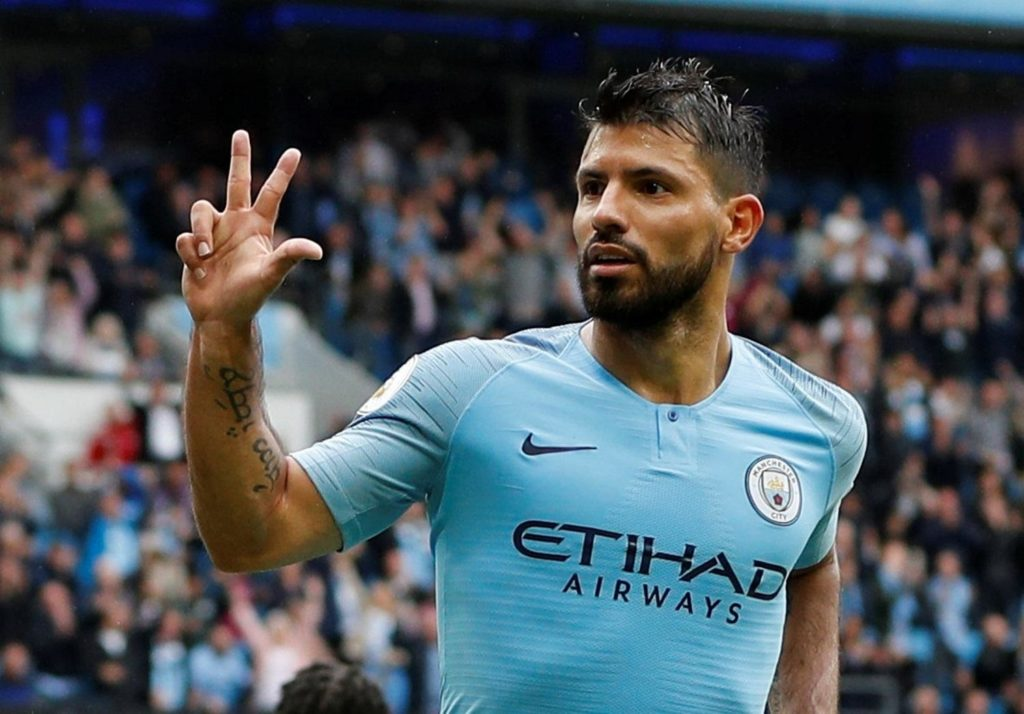 Manchester City striker Sergio Aguero is likely to be recalled for the home meeting with Manchester United on Sunday.