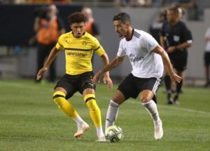 Jadon Sancho insists he has no interest in leaving Borussia Dortmund and wants to repay the faith shown in him by the Bundesliga club.