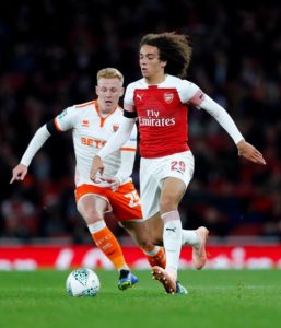 Unai Emery refused to criticise Matteo Guendouzi for getting sent-off during Arsenal's Carabao Cup victory over Blackpool on Wednesday.