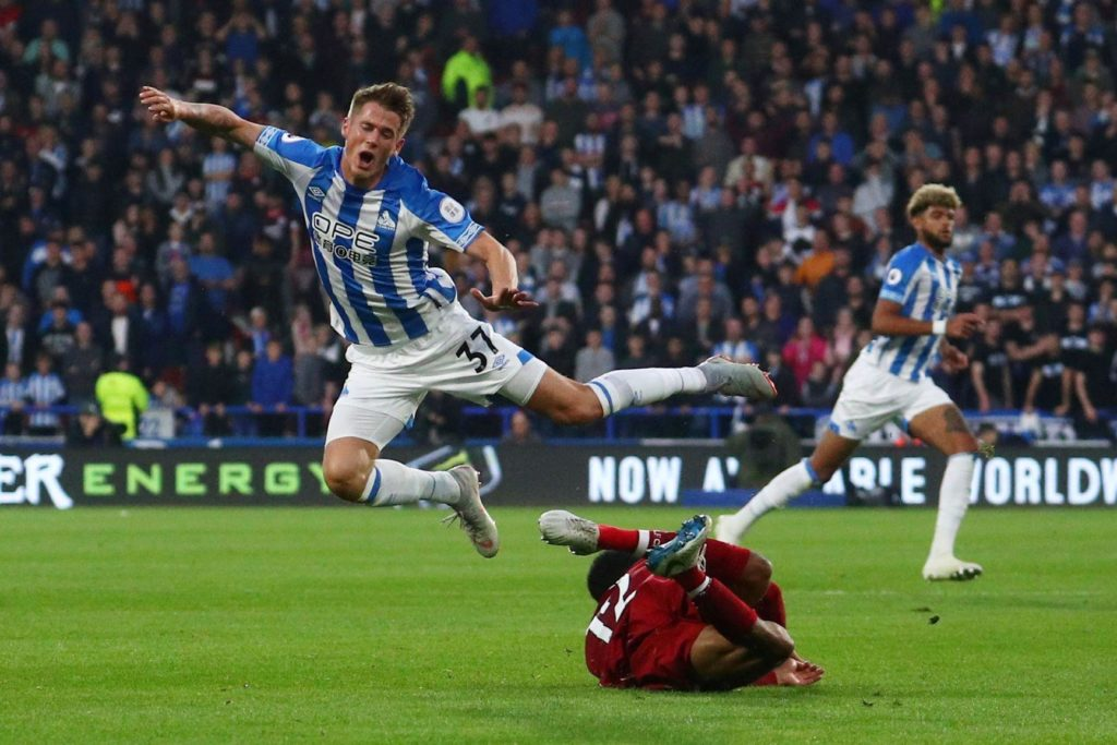 Huddersfield Town full-back Erik Durm is available for the visit of West Ham United on Saturday.