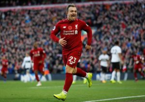 Mo Salah and Xherdan Shaqiri were on target as Liverpool defeated the Premier League's bottom side Fulham 2-0 at Anfield.