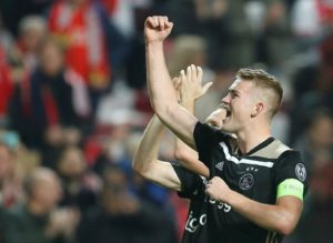 Holland boss Ronald Koeman admits he has spoken with Ajax defender Matthijs de Ligt about moving to a higher level.